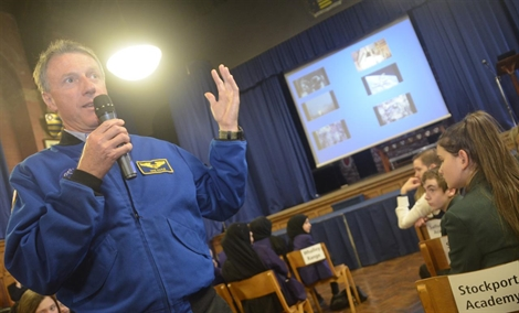 Science Students Over The Moon At Meeting Astronaut