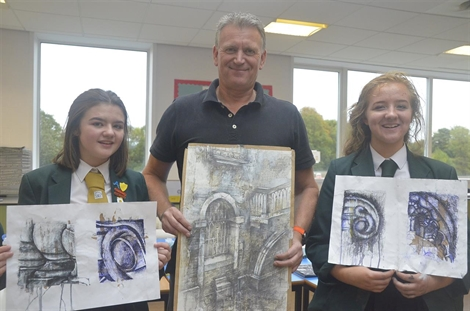 Stockport Academy Students Draw Support From Local Artist