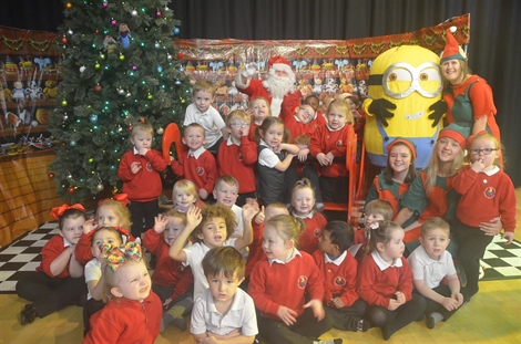Santa Claus Comes To Town For Stockport Academy Nursery Party