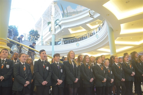 Stockport Academy Choir Tour Ends On A High At Trafford Centre