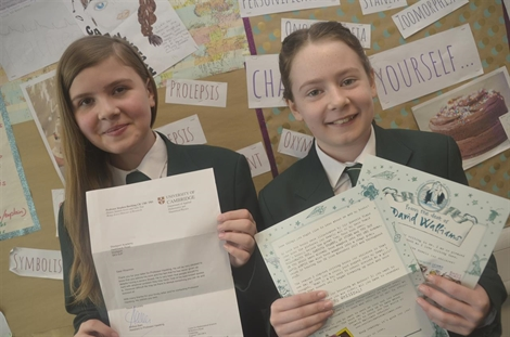 Students' Letter Writing Project Is First Class