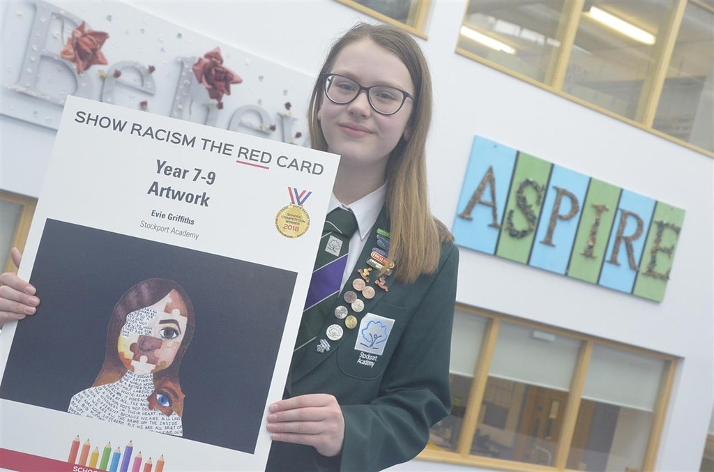 Stockport Academy Student Shows Racism The Red Card