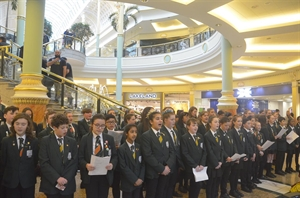 Stockport Academy Choir Bring Christmas To The Trafford Centre
