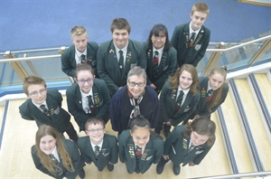 Student Council Talk Politics With Local MP