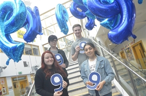 Students On Cloud 9 For GCSE Results Day
