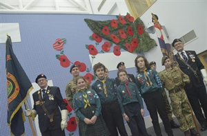 'Lest We Forget' - Stockport Academy Poppy Drop Pays Armistice Day Respects