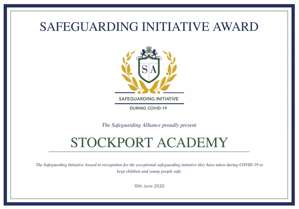 National Safeguarding Award For Stockport Academy