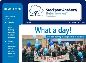 Stockport Academy Newsletter - January 2015: Issue 27