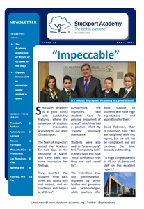 Stockport Academy Newsletter - April 2015: Issue 28