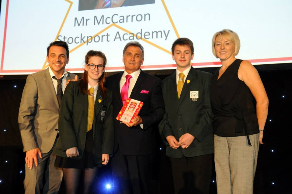 Mr McCarron wins Headteacher of the Year at MEN Schools Awards